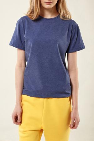 Свободная футболка с короткими рукавами Lava. Цвет: синий