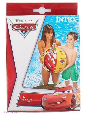 Надувной мяч Тачки Intex. Цвет: желтый, красный