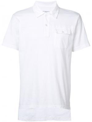 Классическая футболка-поло Engineered Garments. Цвет: белый