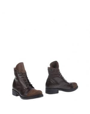 Полусапоги и высокие ботинки PIAMPIANI. Цвет: какао