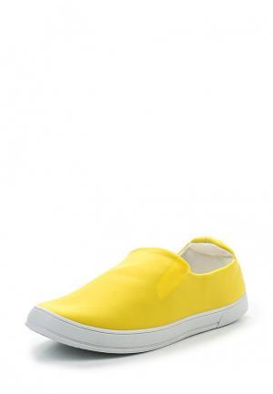 Слипоны Marquiiz. Цвет: желтый
