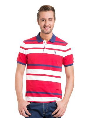 Футболка-поло U.S. Polo Assn.. Цвет: красный