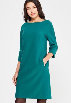 Платье Affari. Цвет: зеленый