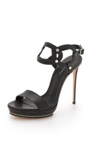 Кожаные туфли на каблуках Casadei. Цвет: голубой