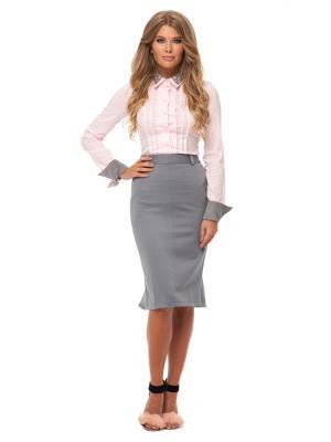 Рубашка Gloss. Цвет: розовый,серый
