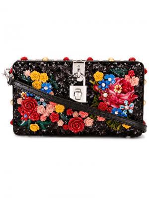 Декорированная сумка на плечо Dolce & Gabbana. Цвет: чёрный