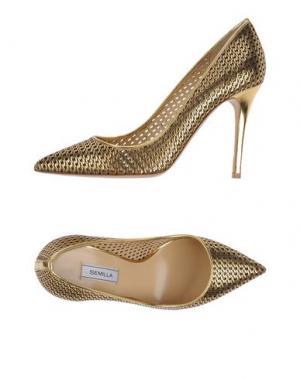 Туфли SEMILLA. Цвет: золотистый