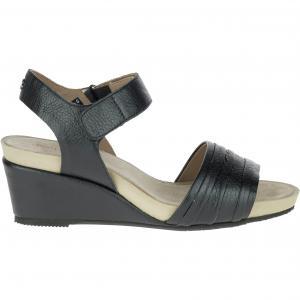 Туфли кожаные велюровые Eveline HUSH PUPPIES. Цвет: черный