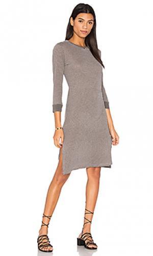 Миди платье в полоску heather Stateside. Цвет: серый