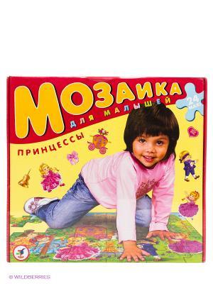 Мозаика для малышей. Принцессы Дрофа-Медиа. Цвет: желтый, красный