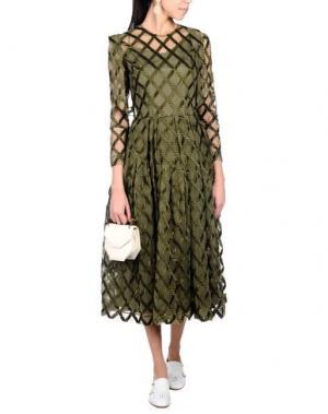 Платье длиной 3/4 SIMONE ROCHA. Цвет: зеленый-милитари