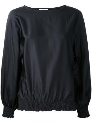 Блузка с вырезом-лодочкой Astraet. Цвет: чёрный