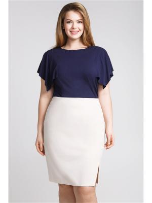 Блузка-топ Bestiadonna. Цвет: темно-синий