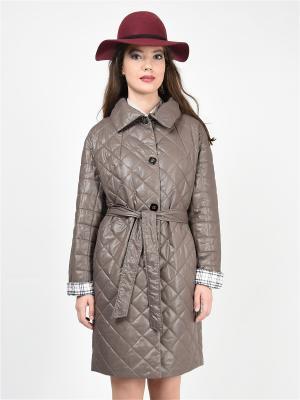 Пальто GRAFINIA. Цвет: светло-коричневый