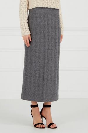 Трикотажная юбка с люрексом A LA RUSSE. Цвет: серый