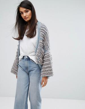 MiH Jeans Фактурный вязаный кардиган M.i.h. Цвет: серый