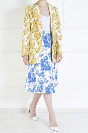 Хлопковая юбка Duro Olowu. Цвет: голубой, белый