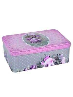Контейнер для хранения сахара 20х13х7 см Тысяча роз Парижа Orval. Цвет: розовый, черный, серый