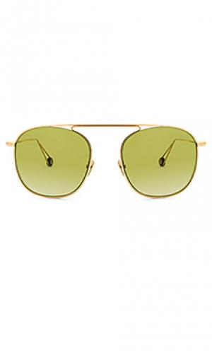 Солнцезащитные очки danvers Ahlem. Цвет: металлический золотой