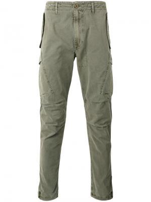 Зауженные брюки Maharishi. Цвет: зелёный