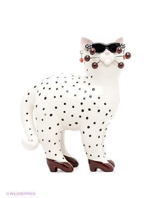 Фигурка Кошка Шанелли Pavone. Цвет: белый, коричневый