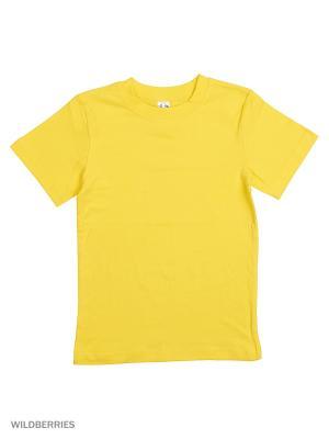 Футболка K&R BABY. Цвет: желтый