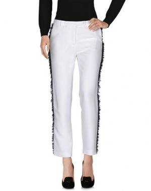 Повседневные брюки GIANLUCA CAPANNOLO. Цвет: белый