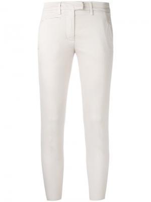 Узкие брюки Dondup. Цвет: телесный