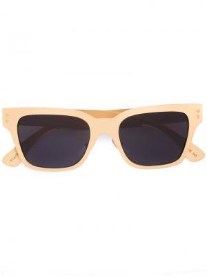 Солнцезащитные очки в квадратной оправе Retrosuperfuture. Цвет: металлический