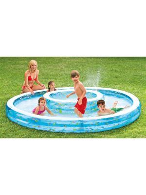 Надувной бассейн . колодец желаний 279х36см от 2 лет Intex. Цвет: синий