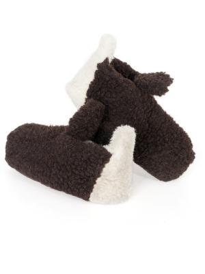 Тапочки ALWERO. Цвет: молочный, темно-коричневый