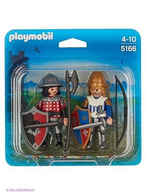 Рыцари Playmobil. Цвет: красный, серебристый, синий