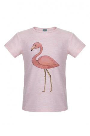 Хлопковая футболка LISA&LEO. Цвет: розовый