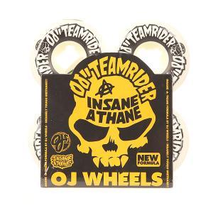 Колеса для скейтборда  Team Rider Hard Line Insaneathane White/Black 99A 53 mm Oj. Цвет: белый,черный