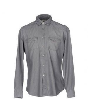 Джинсовая рубашка SIVIGLIA DENIM. Цвет: серый