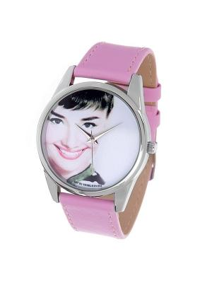 Часы Mitya Veselkov Одри улыбается. Цвет: розовый