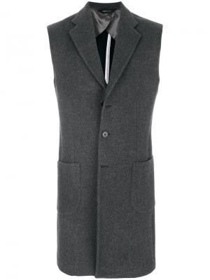 Куртка без рукавов Lc23. Цвет: серый