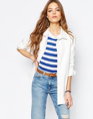 MiH Jeans Джинсовая куртка‑рубашка M.i.h.. Цвет: кремовый