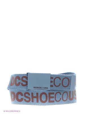 Ремень DC Shoes. Цвет: голубой