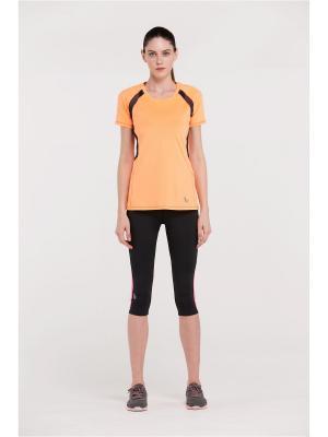 Футболка спортивная Vansydical FSLS6519. Цвет: оранжевый