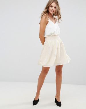 Minimum Плиссированная юбка с принтом. Цвет: рыжий