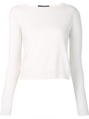 Пуловер с многослойным подолом Fabiana Filippi. Цвет: красный
