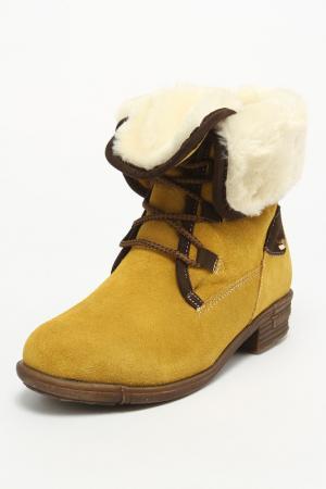 Ботинки Vigorous. Цвет: желтый