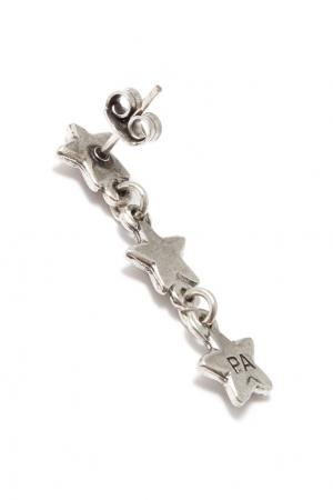 Серебристые серьги со звездами Philippe Audibert. Цвет: серебряный