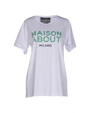 Футболка MAISON ABOUT. Цвет: зеленый