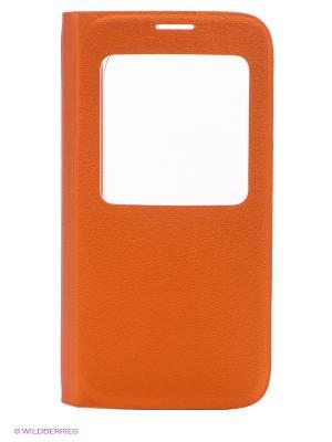 Чехол S View для Galaxy S6 Samsung. Цвет: оранжевый