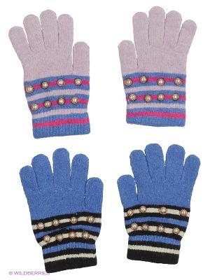 Перчатки FOMAS. Цвет: голубой, сиреневый, черный, синий