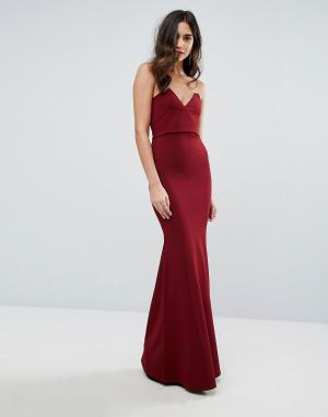 Outrageous Fortune Платье-бандо макси. Цвет: красный