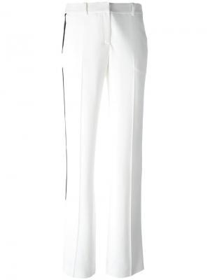 Строгие брюки с лампасами Givenchy. Цвет: белый