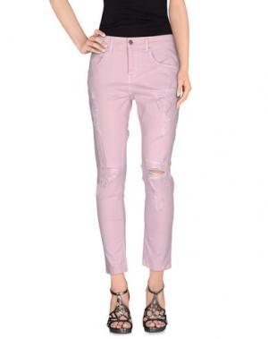 Джинсовые брюки GAëLLE. Цвет: розовый